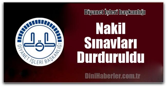 Diyanet, Nakil Sınavlarını Durdurdu