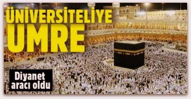Diyanet\'ten İlahiyat ve İslami İlimler Fakültelerinde okuyan öğrencilere umre jesti