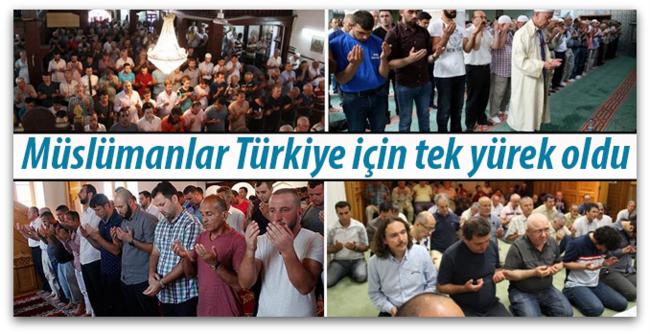 Dünya Müslümanları Türkiye için tek yürek oldu…