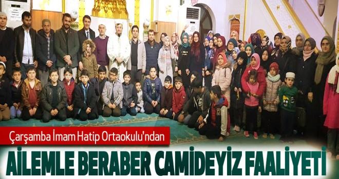 İmam Hatip Ortaokulu'ndan Ailemle Beraber Camideyiz Faaliyeti
