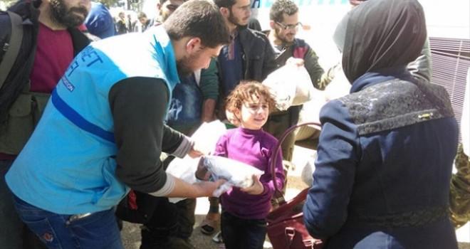 Esed rejimi Türkiye Diyanet Vakfı'nın Suriye'deki barınma merkezi vuruldu
