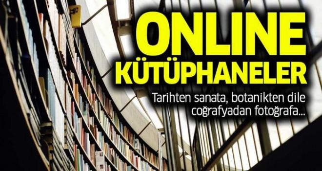 İşte dünyanın dört bir yanında hizmet veren online kütüphaneler, arşivler!