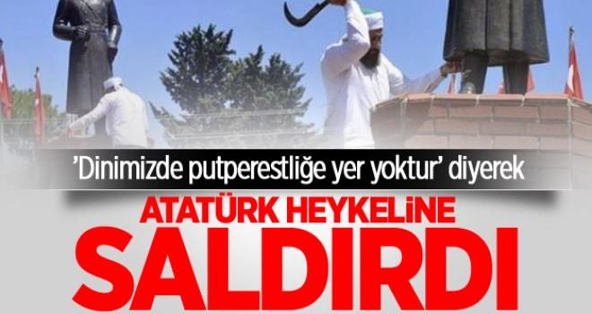 Atatürk heykeline tahra ile saldırı!