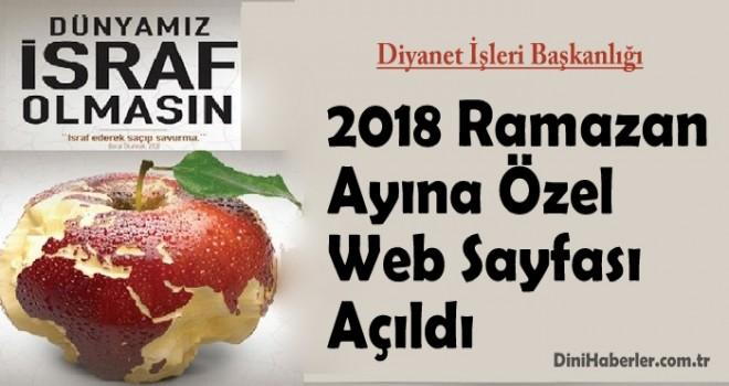 Diyanet, Ramazan Ayına Özel Web Sayfası Açıldı