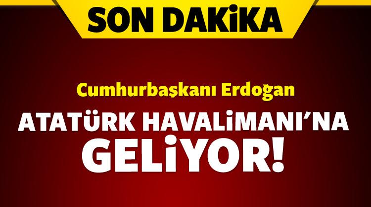 Erdoğan Atatürk Havalimanı\'na hareket etti