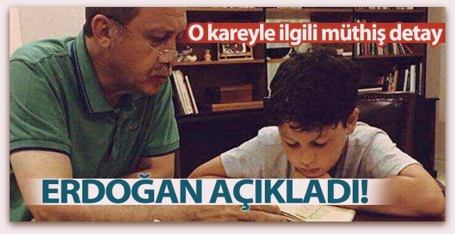 Erdoğan, torununa Kur\'an öğretirken çekilen fotoğrafı anlattı