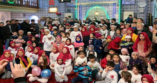 300 çocuk ve 500 velinin katılımıyla 'Namaz Şenliği'