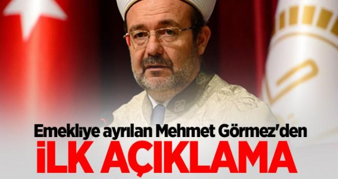 Mehmet Görmez'den teşekkür mesajı