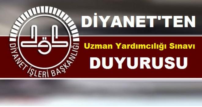 Diyanet'ten Uzman yardımcısı alım ilanı
