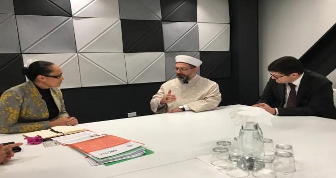 Erbaş, Yeni Zelanda Etnik Topluluklar Bakanı ile görüştü