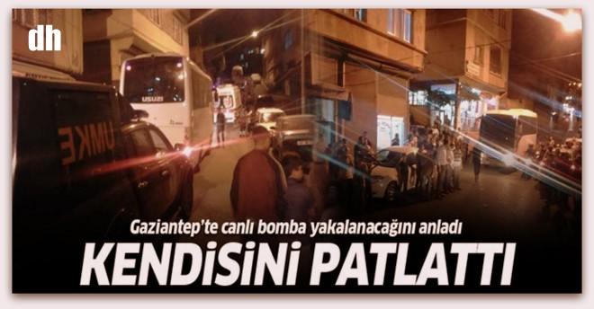 Gaziantep\'te canlı bomba kendini patlattı!