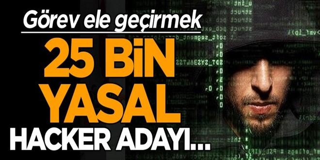 Görev ele geçirmek, 25 bin yasal hacker adayı…