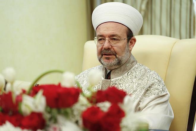 Görmez, Katar Evkaf ve İslam İşleri Bakanı El Kuvari ile bir araya geldi...