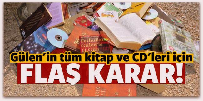 Gülen\'in kitaplarının toplatılmasına karar verildi