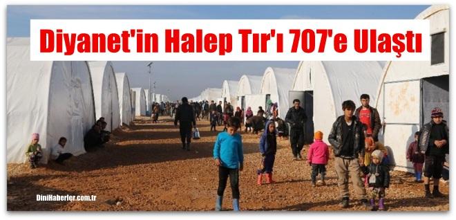 \'Halep\'te İnsanlık Ölmesin\' yardım tırları sayısı 707\'e ulaştı