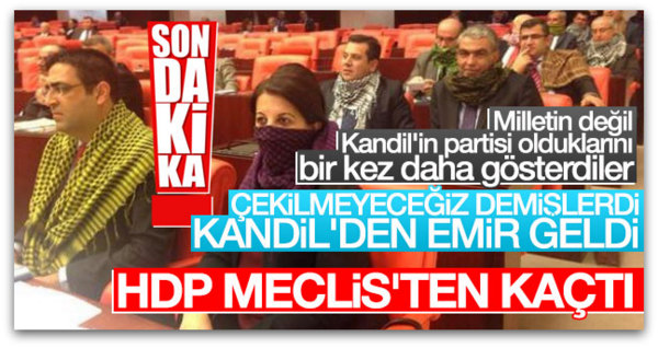 HDP, TBMM\'den çekilme kararı aldı