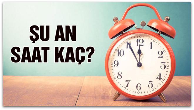Herkes aynı soruyu sordu: Şu an saat kaç?