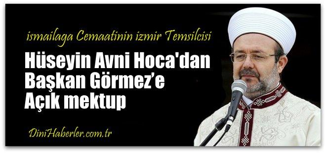 Hüseyin Avni Hoca\'dan Başkan Görmez'e açık mektup
