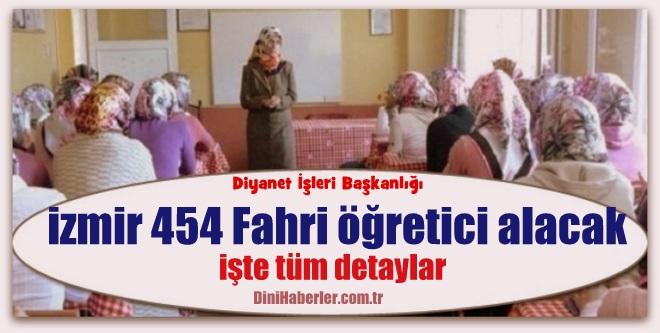 İzmir Müftülüğü Yaz Kursu Ücretlii Öğretici Alım ilanı