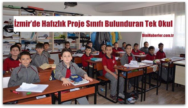 İzmir'de Hafızlık Proje Sınıfı Bulunduran Tek Okul