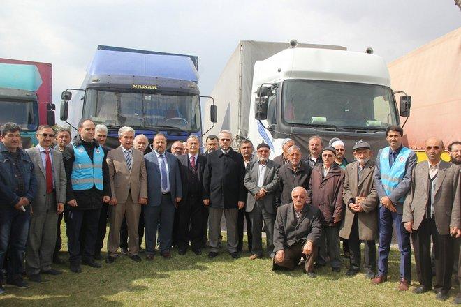 KAYSERİ'DEN SURİYE İÇİN 5 YARDIM TIR'I DAHA!