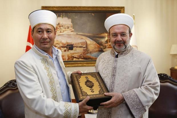 Kazakistan Dini İdaresinden Diyanet'e ziyaret…