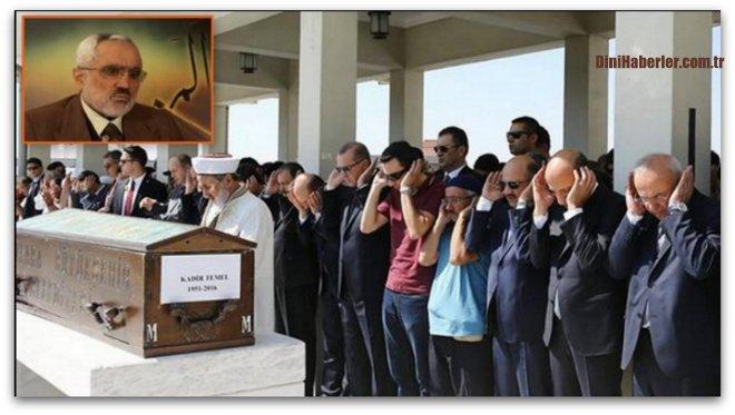 Kocatepe İmam Hatibi Kurra Hafız Kadir Temel ebedi yolculuğuna uğurlandı