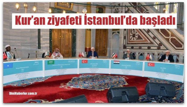 Kur'an ziyafeti İstanbul'da başladı