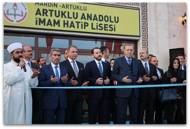 Mardin Proje İmam Hatip Lisesi Cumhurbaşkanımız Erdoğan tarafından açıldı.