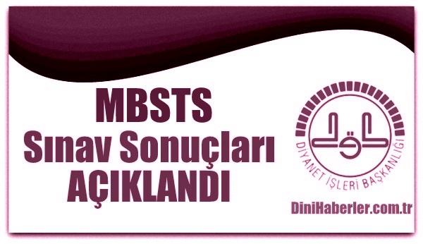 MBSTS Sonuçları açıklandı