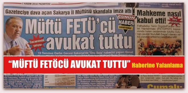 """Müftü FETÖ\'cü Avukat Tuttu"""" Haberine Yalanlama"""