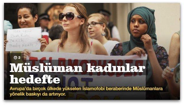 Müslüman kadınlar hedefte
