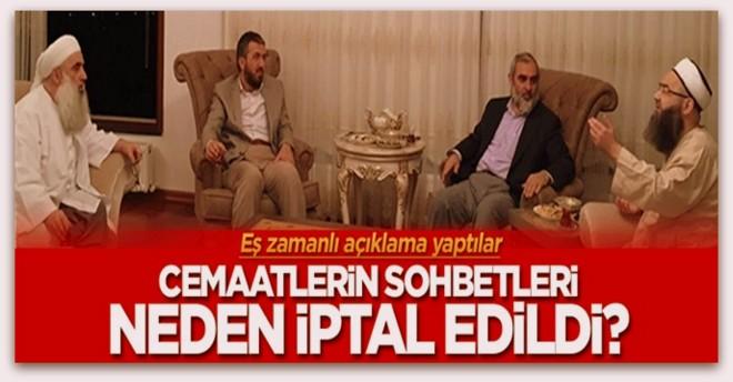 Nureddin Yıldız, Cübbeli Ahmet Hoca ve İhsan Şenocak,  sohbetlerini neden iptal etti?