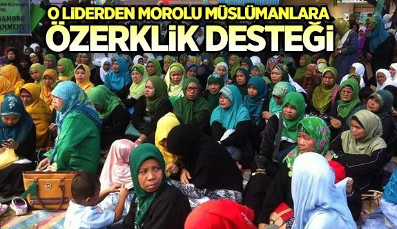 O liderden Morolu Müslümanlara özerklik desteği