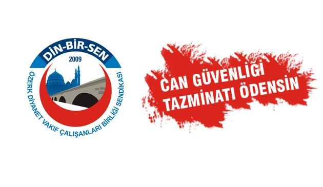 Özdemir, Camii görevlilerine 'can güvenliği tazminatı' ödensin.