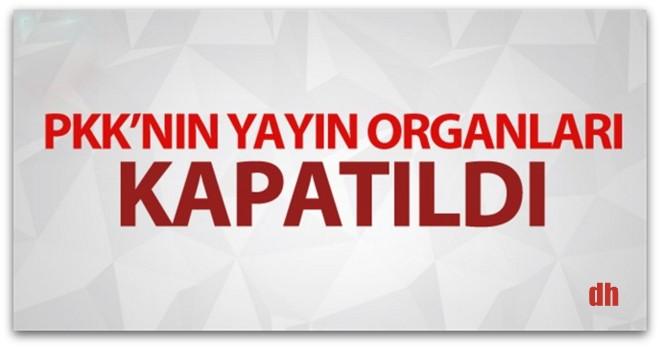 PKK yandaşı 10 gazete, 2 haber ajansı ve 3 dergi için kapatıldı