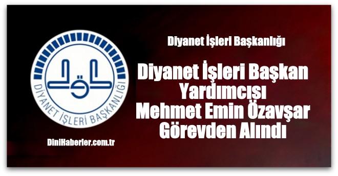 Prof. Dr. Mehmet Emin Özafşar\'ın görevine Son Verildi