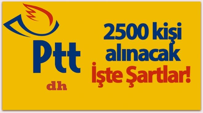 PTT 2017 personel memur alımı başladı...