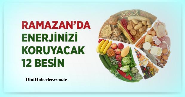 Ramazan\'da Enerjinizi Koruyacak Beslenme Tavsiyeleri