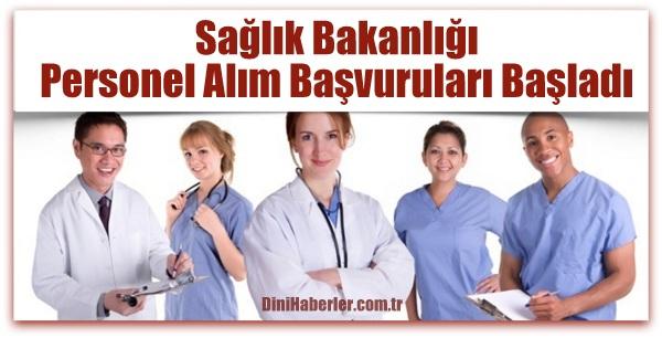 Sağlık Bakanlığı personel alım başvuruları başlıyor