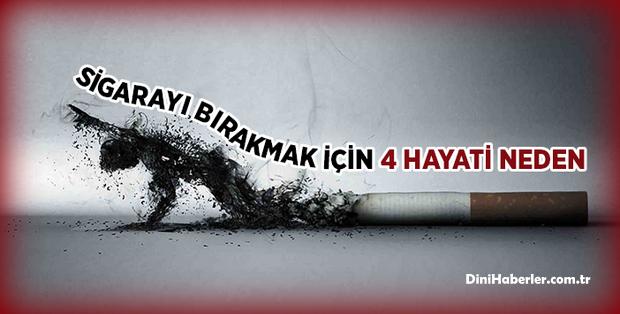Sigarayı bırakmanız için 4 hayati neden