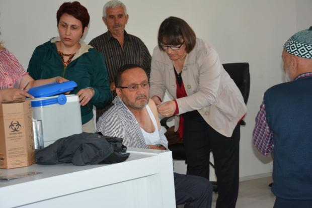 Sinop\'ta Hacı Adayları Aşı Oldu