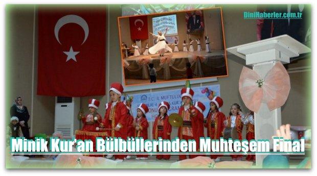 Sinop'ta Minik Kur'an Bülbüllerinden Muhteşem Final