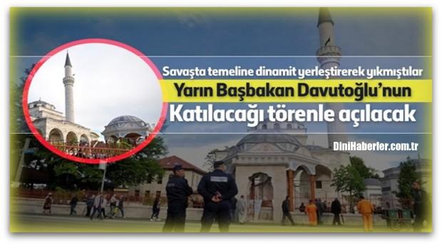 Sırplar\'ın Yıktığı Ferhadiye Camii yarın açılıyor…