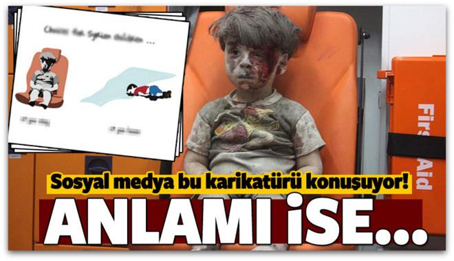Sosyal medyanın konuştuğu Suriye karikatürü