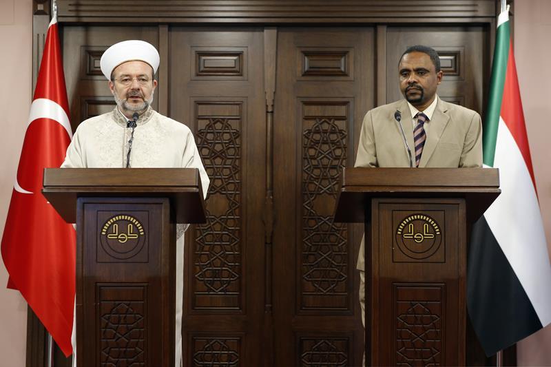Sudan İrşad ve Vakıflar Bakanı Mirgani'den Başkan Görmez'e ziyaret…