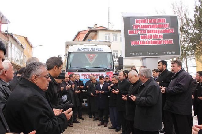 Tufanbeyli\'den Halep\'e Gönülleri Isıtan Yardım