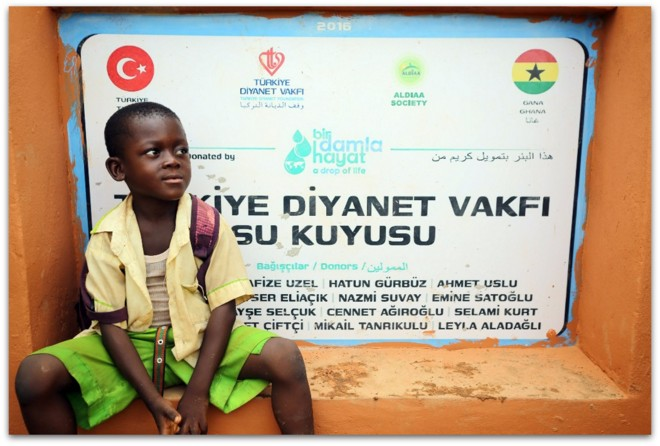 Türkiye Diyanet Vakfı'ndan Gana'ya su kuyusu