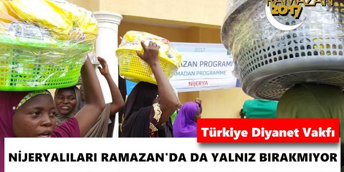 Türkiye Diyanet Vakfı, Nijeryalıları Ramazan\'da da yalnız bırakmıyor