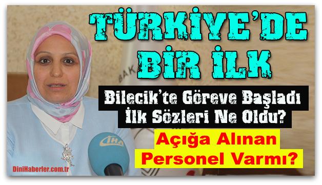 Türkiye\'nin ilk başörtülü İl Milli Eğitim Müdürü görevine başladı